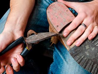 Замена набоек на обуви